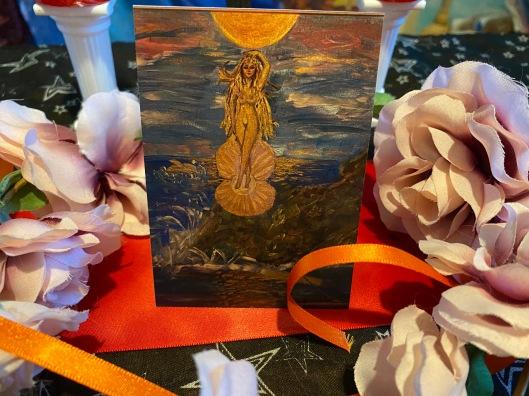 Aphrodite Prayer Card