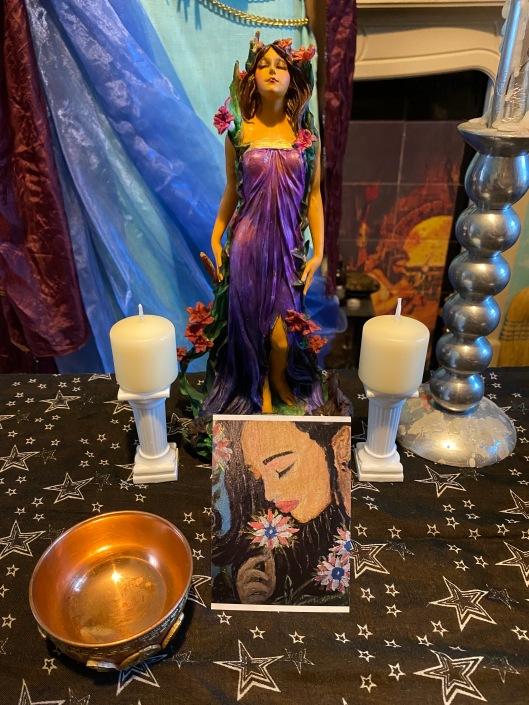 Persephone Prayer Card